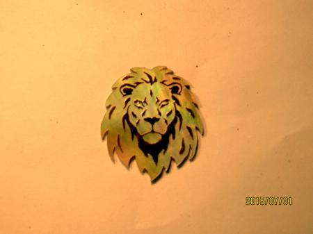 This Lion's head was a challenge.