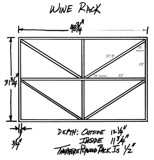 Excellent diagram of existing wine rack.